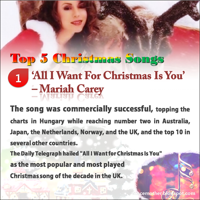Peace Mother: Top 5 Ch... Mariah Carey Christmas Songs List