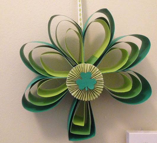 Paper Shamrock Wreath