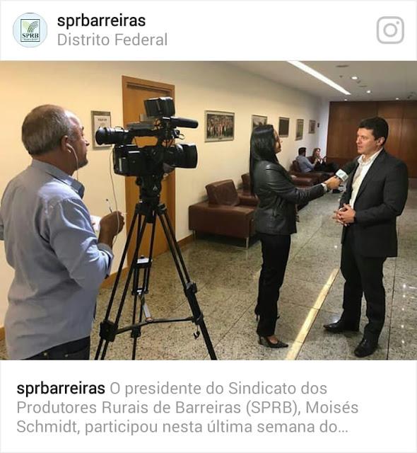 Presidente do Sindicato dos Produtores Rurais de Barreiras participa de encontro na sede da CNA em Brasilia
