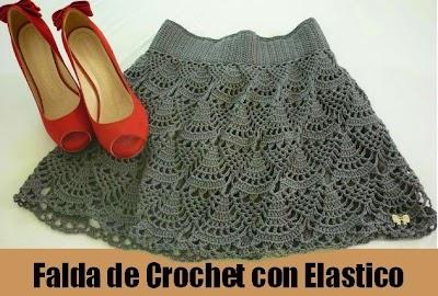 Falda de Crochet con Elastico Patron
