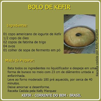 BOLO DE KEFIR
