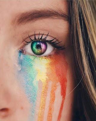 foto tumblr de ojos arcoiris