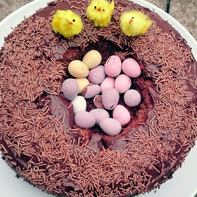 Lovely moist chocolate cake in time for EAster