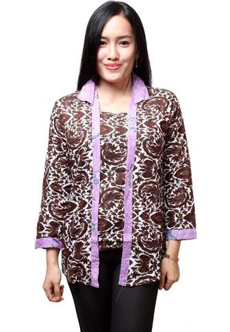 Model Baju Batik Atasan Modern Wanita Gemuk