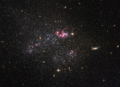 Hubble peers at a distinctly disorganized dwarf galaxy