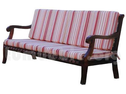 sofa 3 plazas en hecho teca 4166