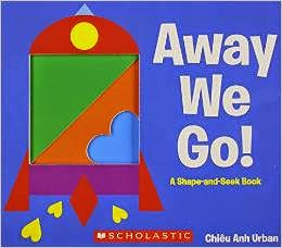 Explore 2D shapes using this book-based activity from the picture book 'Away We Go!' Perfect mix of maths and art for preschool and elementary grades. See more at www.youclevermonkey.com