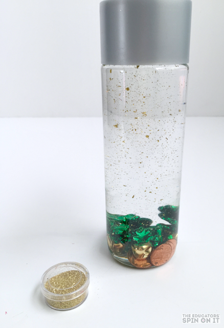 Adding Gold to our St. Patrick's Day STEM Activity