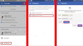 mengurut kenangan masa lalu facebook berdasarkan tanggal