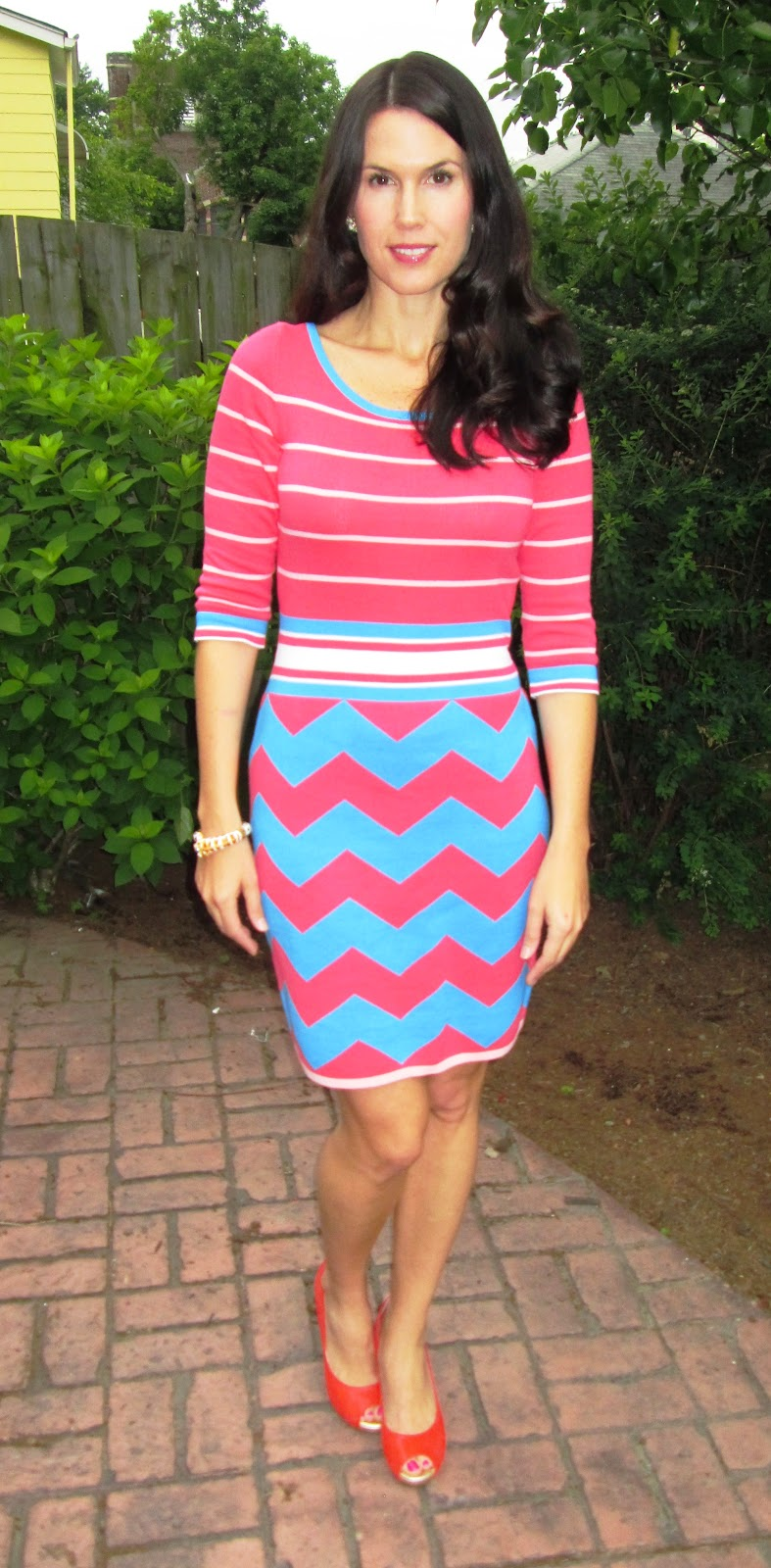 0ebae3f64926e Colorful Corporate  Lindsay Sweater Dress + resort chic wedge by ...