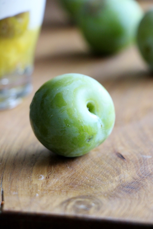 Reineclaude Kompott mit Sojaquark, vegan und glutenfrei
