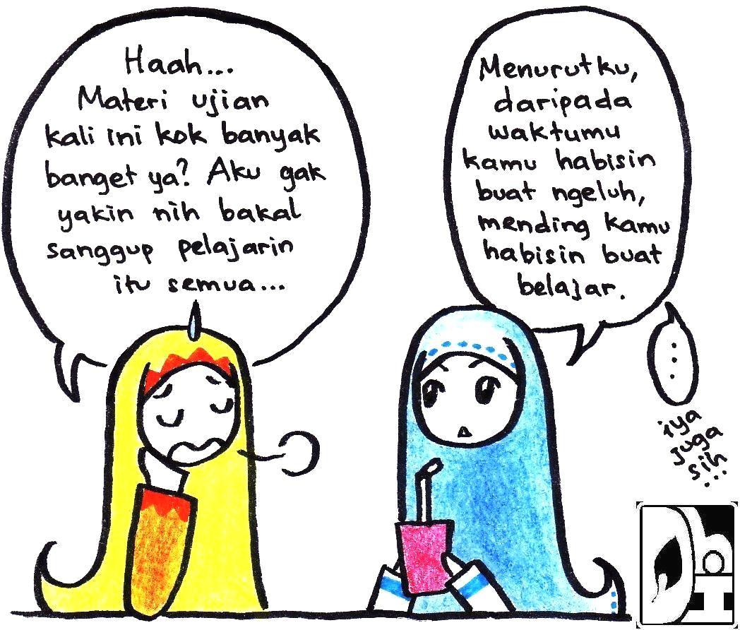 Gambar Komik Muslimah Yang Mudah Digambar Komicbox