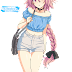 Tags: Render, Astolfo, Braid, Fate Apocrypha, Full body, Long hair, Pink hair, Rider, Shorts