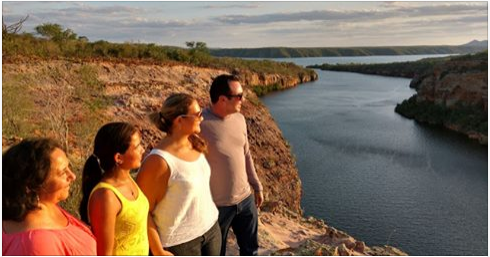 Rede Globo grava o pôr do sol nos cânions de Piranhas