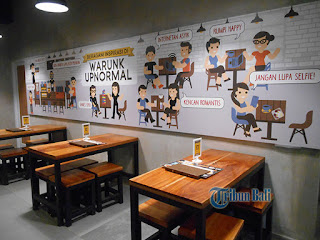 Bali Warunk Upnormal Renon with 100 Menu Options