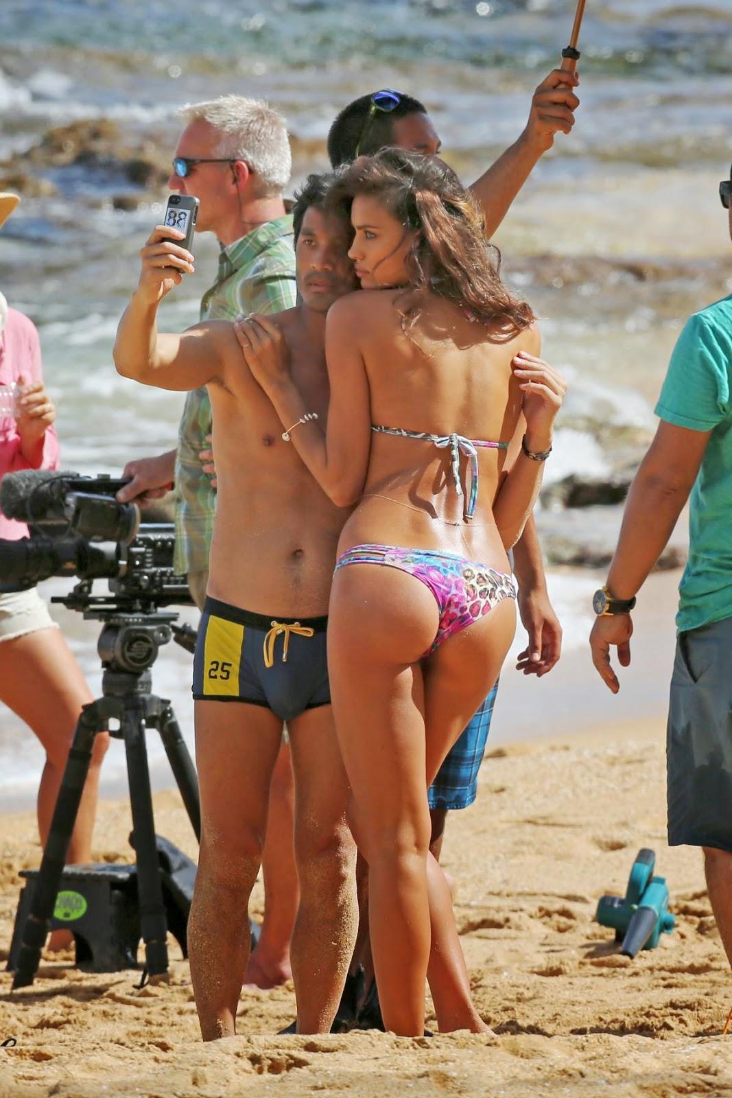 Irina Shayk Sports Illustrated 2014 Naked Photoshoot Candids In Hawaii Hot Celebs