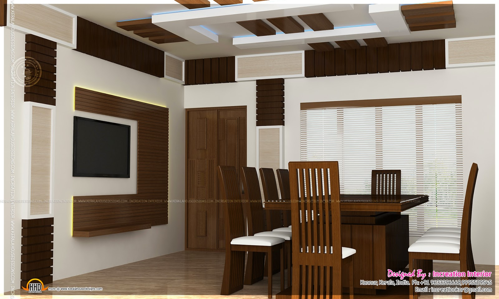 Interior design ideas by increation interior kerala for Dining room designs india