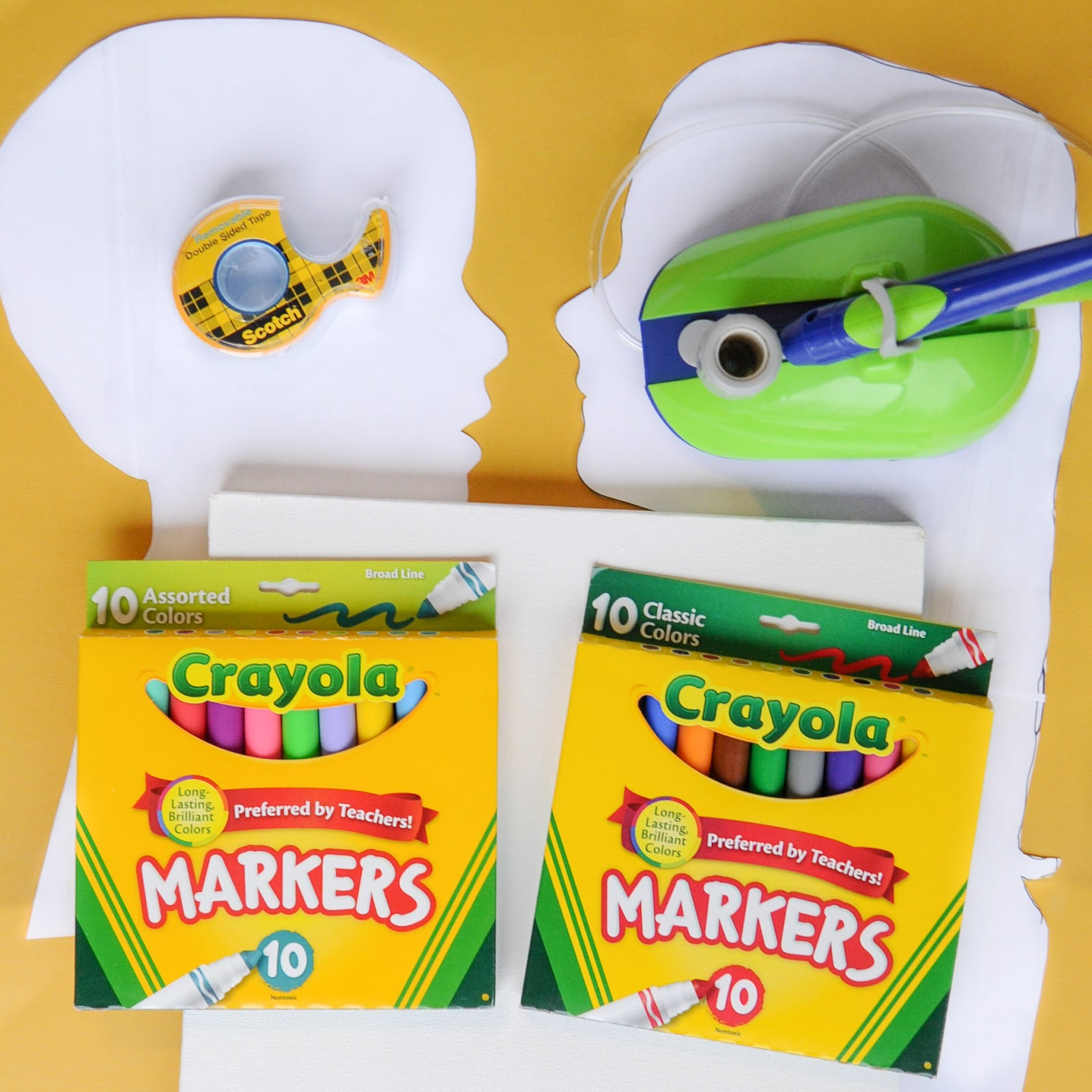 How To Make Silhouettes With The Crayola Air Marker Sprayer