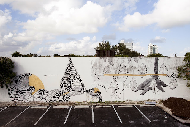 Street Art Collaboration By Pastel and 2501 in Wynwood, Miami For The Mirorless Project. 1