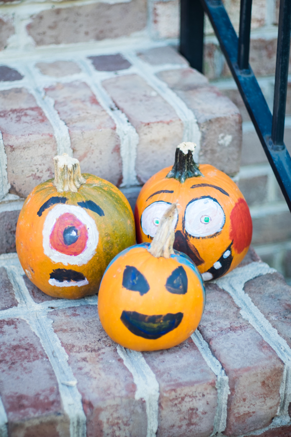 Our Halloween 2018 Highlight- painted pumpkins-design addict mom