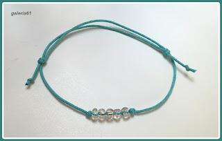 bransoletka sznurkowa_niebieska, turkusowa