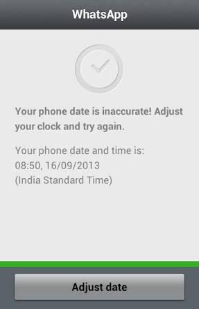Memperbaiki whatsapp kadaluarsa