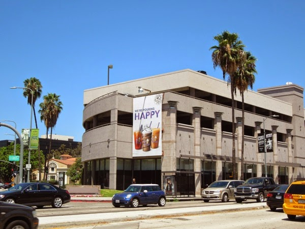 Happy Coffee Bean Tea Leaf billboard