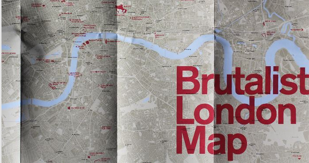Map of Brutalist London