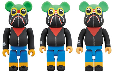 A Bathing Ape x Hebru Brantley x Social Status Be@rbrick Vinyl Figures by Medicom Toy