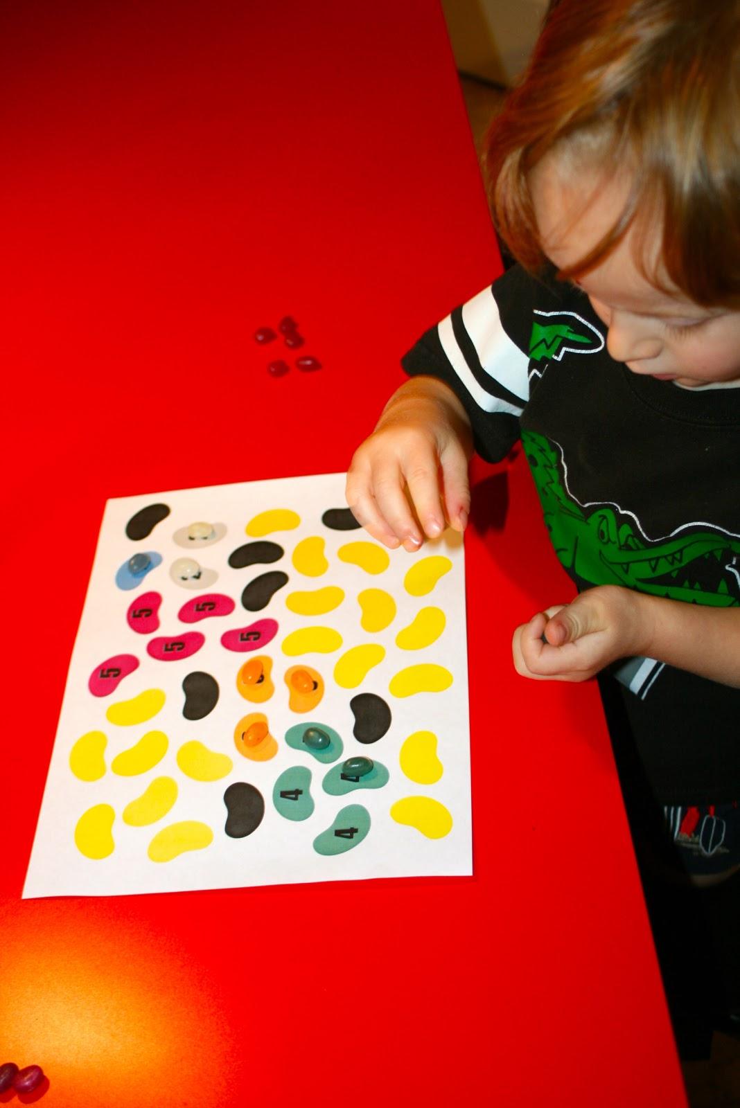 Homeschooling Garden Old Jelly Bean Math