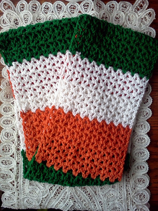 FREE PATTERN: Irish Flag Infinity Scarf