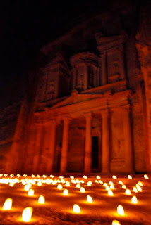 Al Khazneh Treasury Petra at Night Jordan