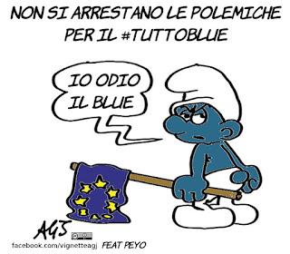 tuttoblue, manifestazioni, 25 aprile, europa, pd, satira, vignetta