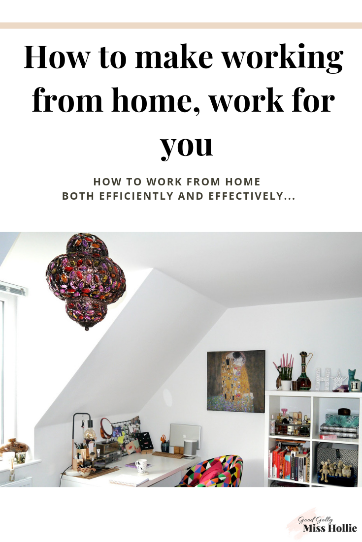 How to make working from home, work for you