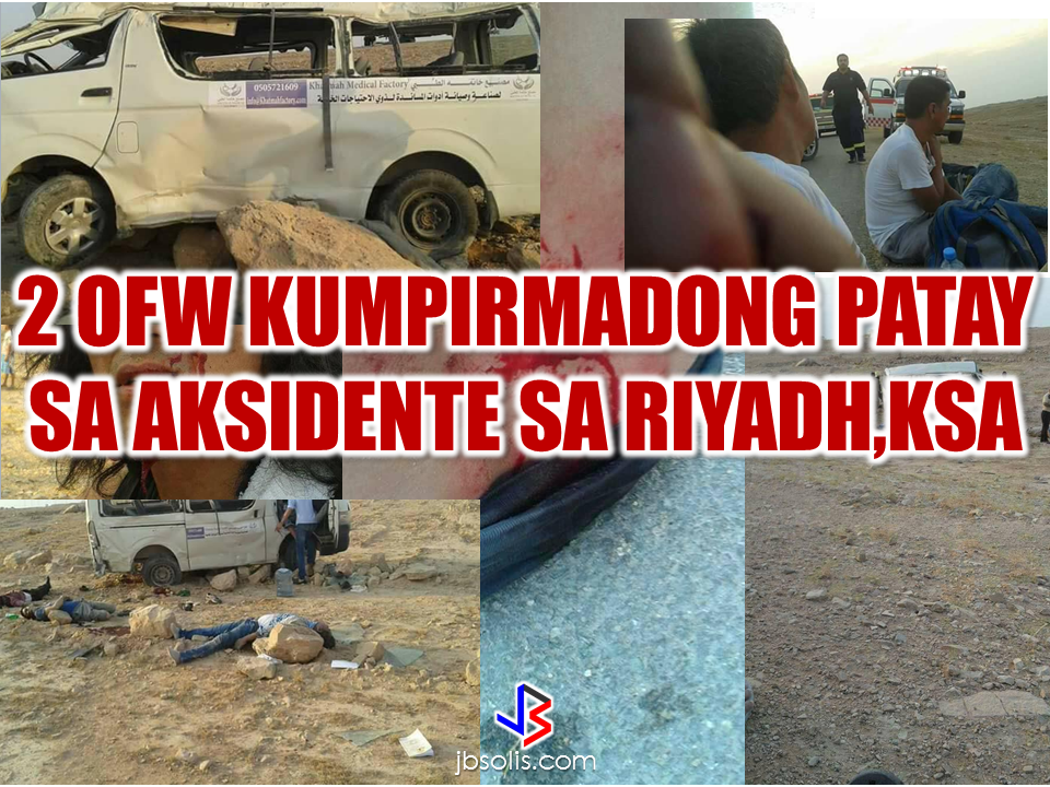 "2 Filipinos are confirmed dead on a road accident in Riyadh Saudi Arabia. A group of workers from Khatmah Medical Factory was traversing the desert when the vehicle accidentally fell of the ravine killing 2 OFWs on the spot.    Loreto Luchavez Lucernas, from Pasig City, also a worker from the said company uploaded some photos on his social media account, which he eventually taken down, to inform the bereaved family of the victims. He said that the vehicle they were boarding was not fully inflated. As they travel, at around 5:00 in the afternoon, the driver lost control of the vehicle and fell off a 2-meter deep cliff. The vehicle rolled off  leaving all the passengers wounded and 2 of them died on the spot due to severe impact. The victims were identified as Romeo Deondo, from Panit-an, Capiz, and Anthony Fulong, from Bicol,whom according to Lucernas were both working as a factory worker in the company for  only 2 years. ""Advertisements"" One of the victim, Romeo Deondo is scheduled to have his vacation this coming September but it will never happen anymore. In a social media post, he was very excited to have his probably first vacation after leaving the Philippines for work in Saudi Arabia.   Lucernas also mentioned on his social media post that this was the second time that they had an accident on the same road ,but this time, it has taken the lives of the 2 of his colleagues. The company assured that they will take responsibility to provide the needs of the victims and their families.   ""Sponsored Links"" Read More:  A female Overseas Filipino Worker (OFW) working in Saudi Arabia was killed by an unknown gunman in Cabatuan, Isabela on Sunday. The OFW is in the country to enjoy her vacation and to celebrate her bithday with her loved ones. The victim's mother, Betty Ordonez, said that Jenny Constantino, 29, arrived in the country from Saudi Arabia for a vacation.         China's plans to hire Filipino household workers to their five major cities including Beijing and Shanghai, was reported at a local newspaper Philippine Star. it could be a big break for the household workers who are trying their luck in finding greener pastures by working overseas  China is offering up to P100,000  a month, or about HK$15,000. The existing minimum allowable wage for a foreign domestic helper in Hong Kong is  around HK$4,310 per month.  Dominador Say, undersecretary of the Department of Labor and Employment (DOLE), said that talks are underway with Chinese embassy officials on this possibility. China's five major cities, including Beijing, Shanghai and Xiamen will soon be the haven for Filipino domestic workers who are seeking higher income.  DOLE is expected to have further negotiations on the launch date with a delegation from China in September.   according to Usec Say, Chinese employers favor Filipino domestic workers for their English proficiency, which allows them to teach their employers' children.    Chinese embassy officials also mentioned that improving ties with the leadership of President Rodrigo Duterte has paved the way for the new policy to materialize.  There is presently a strict work visa system for foreign workers who want to enter mainland China. But according Usec. Say, China is serious about the proposal.   Philippine Labor Secretary Silvestre Bello said an estimated 200,000 Filipino domestic helpers are  presently working illegally in China. With a great demand for skilled domestic workers, Filipino OFWs would have an option to apply using legal processes on their desired higher salary for their sector. Source: ejinsight.com, PhilStar Read More:  The effectivity of the Nationwide Smoking Ban or  E.O. 26 (Providing for the Establishment of Smoke-free Environment in Public and Enclosed Places) started today, July 23, but only a few seems to be aware of it.  President Rodrigo Duterte signed the Executive Order 26 with the citizens health in mind. Presidential Spokesperson Ernesto Abella said the executive order is a milestone where the government prioritize public health protection.    The smoking ban includes smoking in places such as  schools, universities and colleges, playgrounds, restaurants and food preparation areas, basketball courts, stairwells, health centers, clinics, public and private hospitals, hotels, malls, elevators, taxis, buses, public utility jeepneys, ships, tricycles, trains, airplanes, and  gas stations which are prone to combustion. The Department of Health  urges all the establishments to post ""no smoking"" signs in compliance with the new executive order. They also appeal to the public to report any violation against the nationwide ban on smoking in public places.   Read More:          ©2017 THOUGHTSKOTO www.jbsolis.com SEARCH JBSOLIS, TYPE KEYWORDS and TITLE OF ARTICLE at the box below Smoking is only allowed in designated smoking areas to be provided by the owner of the establishment. Smoking in private vehicles parked in public areas is also prohibited. What Do You Need To know About The Nationwide Smoking Ban Violators will be fined P500 to P10,000, depending on their number of offenses, while owners of establishments caught violating the EO will face a fine of P5,000 or imprisonment of not more than 30 days. The Department of Health  urges all the establishments to post ""no smoking"" signs in compliance with the new executive order. They also appeal to the public to report any violation against the nationwide ban on smoking in public places.          ©2017 THOUGHTSKOTO Dominador Say, undersecretary of the Department of Labor and Employment (DOLE), said that talks are underway with Chinese embassy officials on this possibility. China's five major cities, including Beijing, Shanghai and Xiamen will soon be the destination for Filipino domestic workers who are seeking higher income.  ©2017 THOUGHTSKOTO"