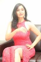 Sakshi Kakkar in Red Legsplit Sleeveless Gown at Dare movie Press meet ~  Exclusive 084.JPG