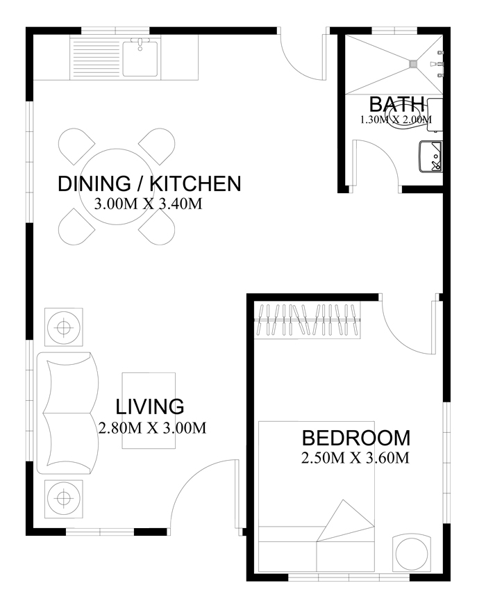 40 small house images designs with free floor plans lay for Area of a floor plan