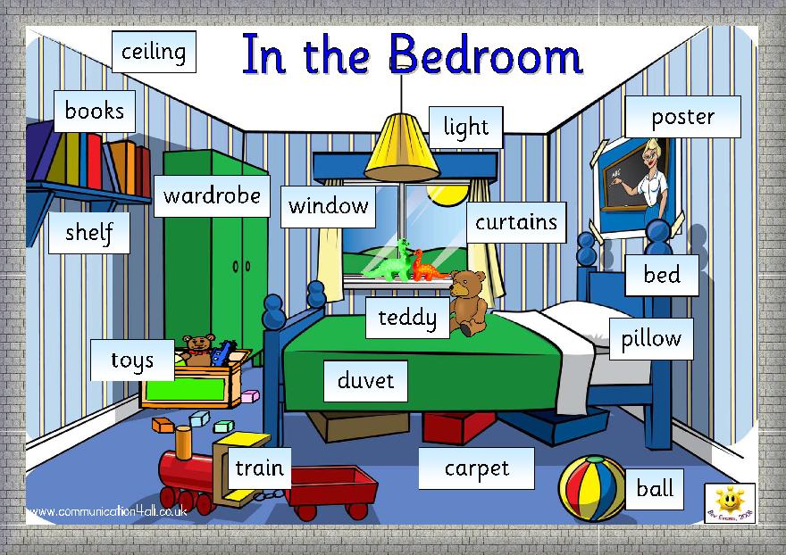 English through Games: MY BEDROOM - VOCABULARY