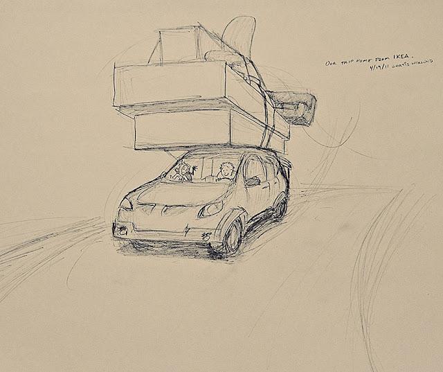 Marido ilustra todos os dias que ele passou com sua amada esposa em 365 desenhos