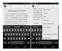 Beberapa aplikasi untuk menulis