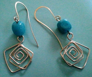 sterling silver, blue jade, tesoros jewelry, earrings