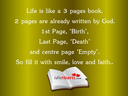 Daily Bible Verses: Life Is Like A 3 Pages Book.