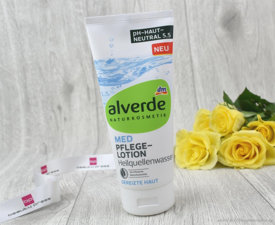 beautypress News Box - alverde Naturkosmetik MED Pflegelotion Heilquellenwasser