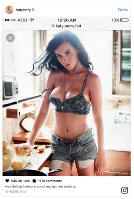Katy Perry se googlea cunado está deprimida; y funciona