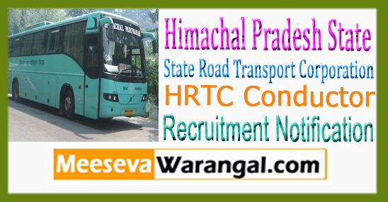 HRTC State Road Transport Corporation 1000 Conductor Recruitment Notification 2017