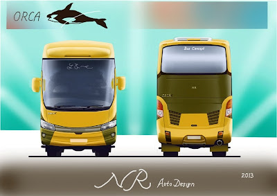 Design bus 3D Orca Front and Rear
