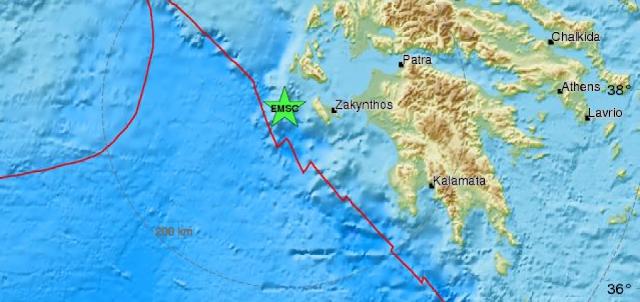 Σεισμός 5 Ρίχτερ στο Ιόνιο έγινε αισθητός σε Πελοπόννησο και Στερεά