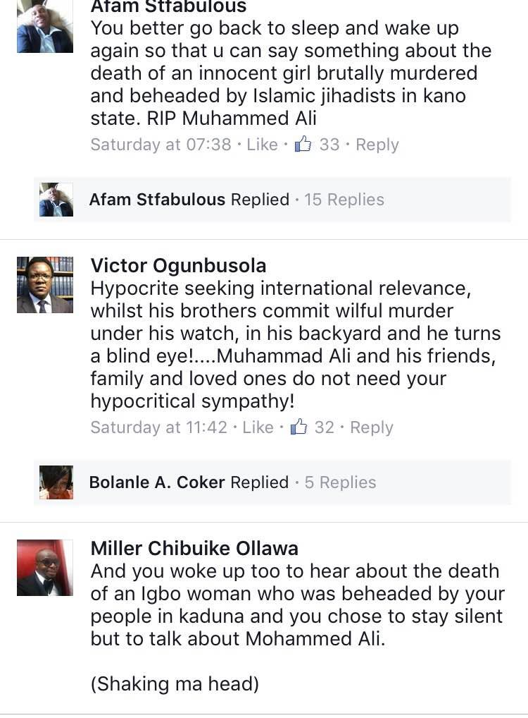 Nigerian blast Kaduna State governor El Rufai for posting about Mohammed Ali's death
