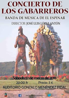 CONCIERTO DE LOS GABARREROS 12 de marzo, 20 horas Auditorio Gonzalo Menéndez Pidal