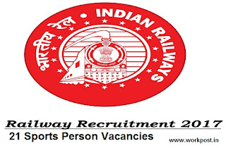 Railway Sports Quota Recruitment 2017